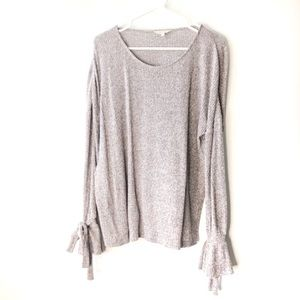 Tie Sleeve Rib Pullover Size XL
